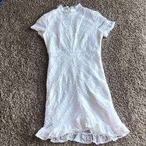 Hello molly white lace dress